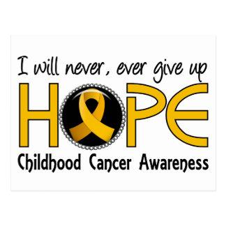 Never Give Up Hope 5 Childhood Cancer Postcard