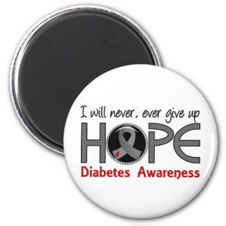 Never Give Up Hope 5 Diabetes 6 Cm Round Magnet