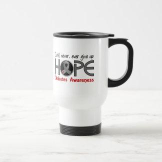Never Give Up Hope 5 Diabetes 15 Oz Stainless Steel Travel Mug
