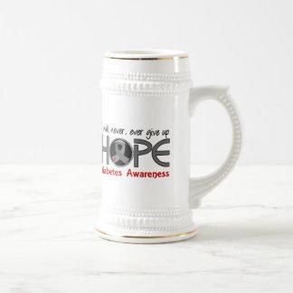 Never Give Up Hope 5 Diabetes Coffee Mugs