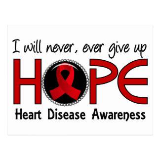 Never Give Up Hope 5 Heart Disease Postcard