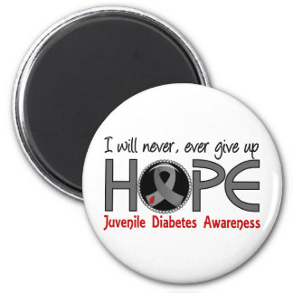 Never Give Up Hope 5 Juvenile Diabetes 6 Cm Round Magnet