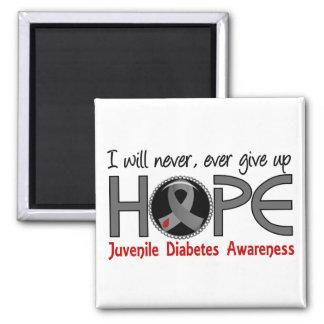 Never Give Up Hope 5 Juvenile Diabetes Fridge Magnets