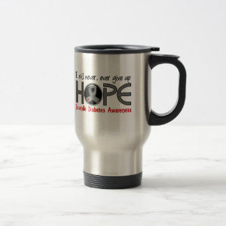 Never Give Up Hope 5 Juvenile Diabetes 15 Oz Stainless Steel Travel Mug