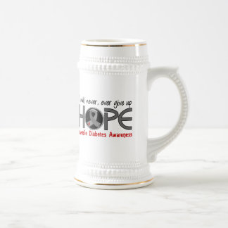Never Give Up Hope 5 Juvenile Diabetes 18 Oz Beer Stein