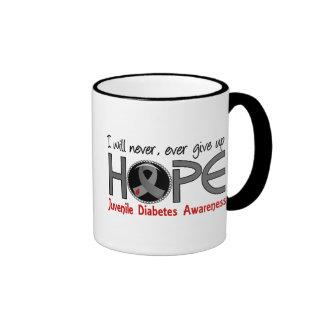 Never Give Up Hope 5 Juvenile Diabetes Ringer Coffee Mug