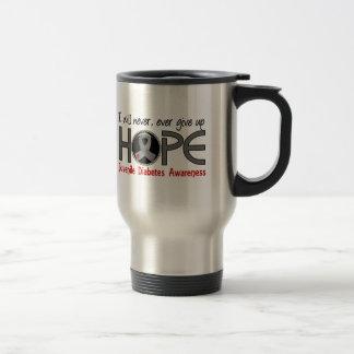 Never Give Up Hope 5 Juvenile Diabetes Stainless Steel Travel Mug