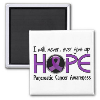 Never Give Up Hope 5 Pancreatic Cancer Square Magnet