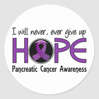 Never Give Up Hope 5 Pancreatic Cancer Classic Round Sticker