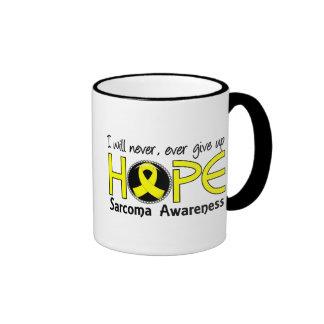 Never Give Up Hope 5 Sarcoma Ringer Mug