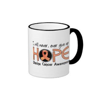 Never Give Up Hope 5 Uterine Cancer Mugs