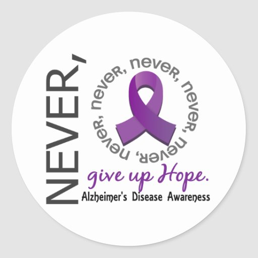Never Give Up Hope Alzheimer's Disease Stickers