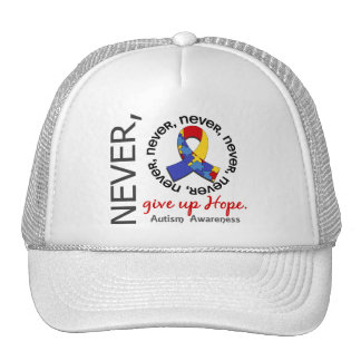 Never Give Up Hope Autism Trucker Hat