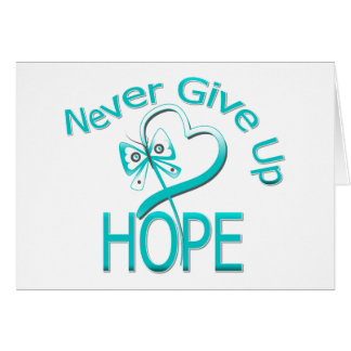 Never Give Up Hope Cervical Cancer Greeting Card