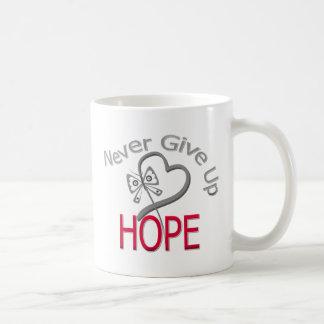 Never Give Up Hope Diabetes Basic White Mug