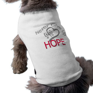 Never Give Up Hope Diabetes Doggie T-shirt