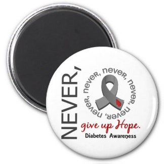 Never Give Up Hope Diabetes Refrigerator Magnets