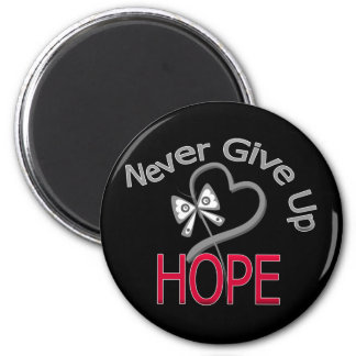Never Give Up Hope Diabetes 6 Cm Round Magnet