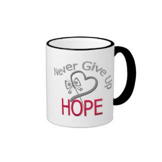 Never Give Up Hope Diabetes Coffee Mugs