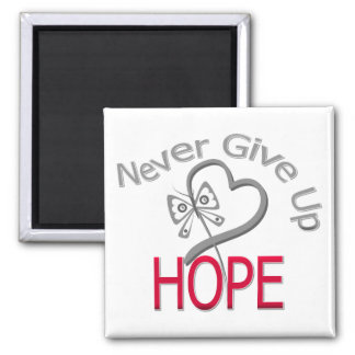 Never Give Up Hope Diabetes Square Magnet
