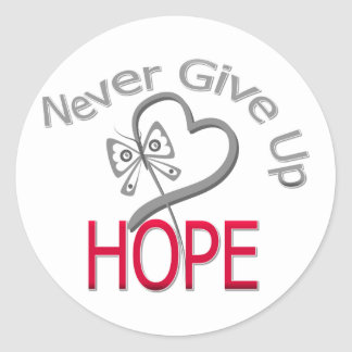 Never Give Up Hope Diabetes Stickers