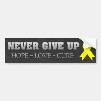 Never Give Up Hope Ewing Sarcoma Awareness Bumper Sticker