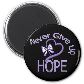 Never Give Up Hope Hodgkin's Lymphoma 6 Cm Round Magnet