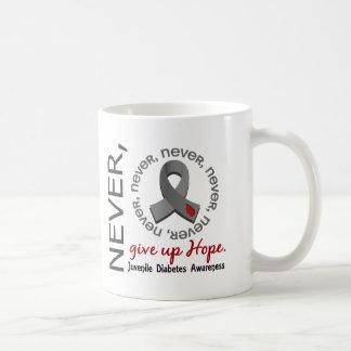 Never Give Up Hope Juvenile Diabetes Basic White Mug