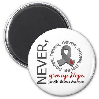 Never Give Up Hope Juvenile Diabetes Refrigerator Magnet