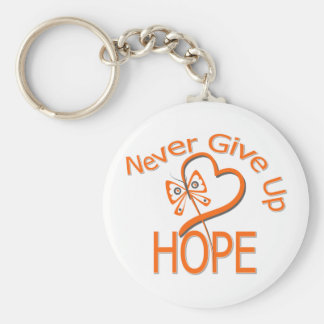Never Give Up Hope Kidney Cancer Key Chains