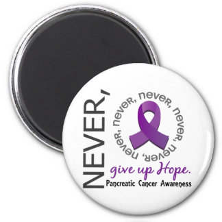 Never Give Up Hope Pancreatic Cancer 6 Cm Round Magnet