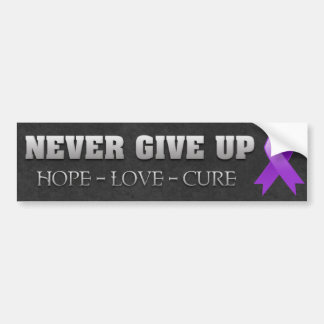 Never Give Up Hope Pancreatic Cancer Awareness Bumper Sticker