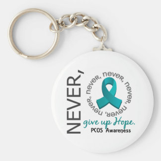 Never Give Up Hope PCOS Key Chain