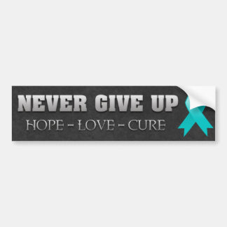 Never Give Up Hope Peritoneal Cancer Awareness Bumper Sticker