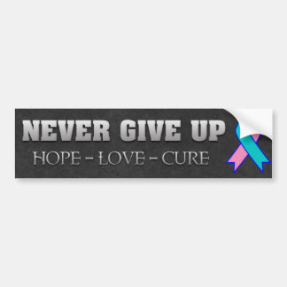 Never Give Up Hope Thyroid Cancer Awareness Bumper Sticker
