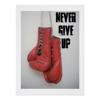 Never Give Up HUGE Canvas! Poster