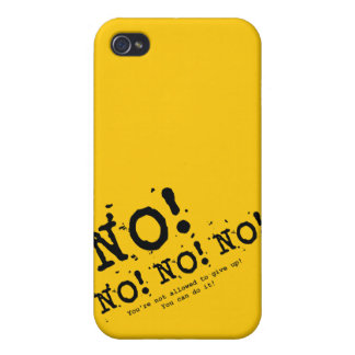 Never Give Up iPhone 4/4S Covers