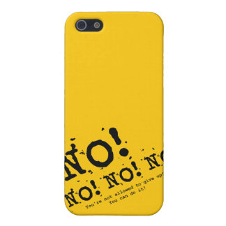 Never Give Up iPhone 5 Case
