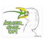 Never Give Up Lizard Postcard