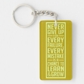 Never Give Up motivational key chain Keychains