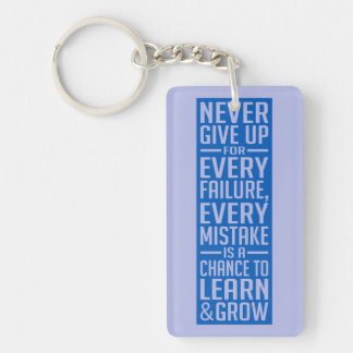 Never Give Up motivational key chain Key Chains