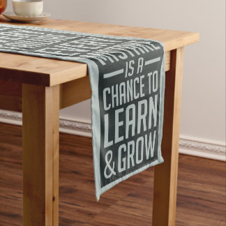 NEVER GIVE UP motivational table runner