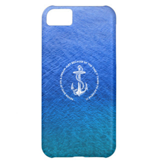 Never Give Up On Dream Blue Ocean Vintage Anchor iPhone 5C Covers
