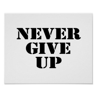 Never Give Up Poster