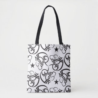 Never give up super cool all-over-print tote bag