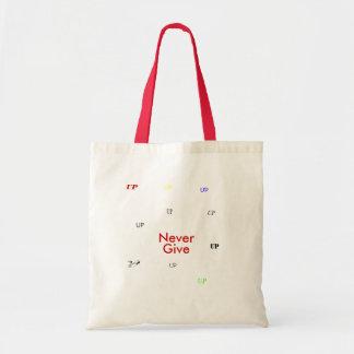 Never, Give, UP, UP, UP, UP, UP, UP, UP, UP, UP... Budget Tote Bag