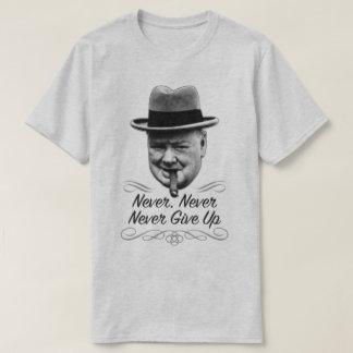 Never Give Up Winston Motivational World War 2 Tee