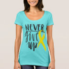 NEVER GIVE UP Women's Next Level Scoop Neck T-Shir T-Shirt