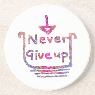 Never Giveup  -  Artistic Motivational presention Coasters