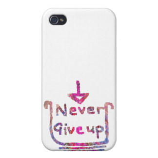 Never Giveup - Artistic Motivational presention Cases For iPhone 4